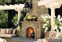 Decoración exterior / Jardines, porches, ... todo fuera de la casa, que tenga una decoración diferente.