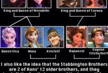Tangled and frozen / So it's true!
