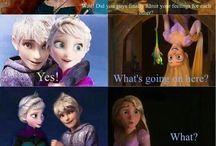 Rapunzel jealous of jelsa