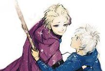 ❄️Jelsa všeho druhu❄️ / Moja nástenka opsahuje FANIMAGE tak zvané Jelsa či Jack Frost a Elsa!