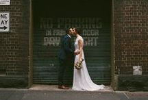 Urban Wedding Photography / Urban bohemian wedding photography