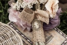 Shabby Chic Wedding / Love shabby lace and vintage style pinks mauve lace cream champagne rustic silver and golds, eggplant, table flowers, grapes, vintage suitcases shabby chic style.   / by ♥ sweet adeline ♥