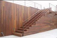 Escalera Exterior / Escalera exterior de madera para espacios a medida de diferentes estilos y diseños #stairs #staircase #ladder #wood #escalera #escaleras