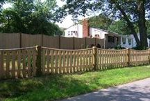 """Spaced board fences - cedar / Spaced board fences can be the perfect choice for keeping children and pets safe. They are ideally suited for times when you need a fence but would like to maintain visibility of the enclosed area. The boards are available with many tops and widths from 2"""" to 6"""" . Adding facias and kickboards dramatically changes a fence's appearance, transforming a relatively simple fence into something much more formal and elegant. Most styles can be scalloped, reverse scalloped, or capped."""
