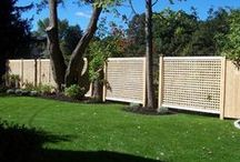 Lattice fence / Lattice fence provides attractive protection while allowing air to flow through.