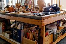 Work bench / Rustic, functional work benches.