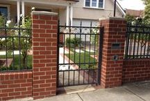 ELEMENTS: Fences / Soild Walls / Front Fences, Brick, Rendered Block, Modular Wall, Timber Fence, Steel Fence