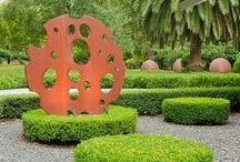 ELEMENTS: Features / Sculptures / Garden features.  Sculpture, mirrors, artwork,