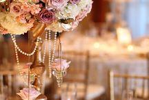 raspberry & antique gold vintage glamour wedding