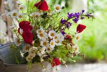 garden, flower wreaths, flowers, kwiaty, kwietne dekoracje