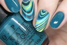 Nail Art: Miscellaneous / nail art water decals, freehand, color blocking