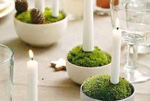 christmas / winter candles, świeczki, świeczniki świąteczne