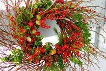 christmas wreath / świąteczne wianki / święta