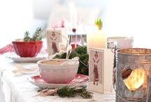 christmas table / table