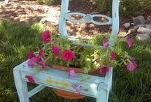 repurpose, chairs ideas, colors, shapes... / all about chairs