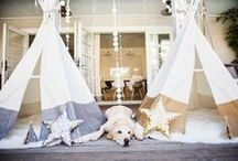 party theme: white star / white party, it is an amazing kids party idea, with tents, stars and white clothes...