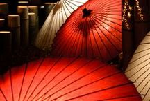 ☂ Parasols, umbrellas and fans ☂