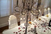 Bridal Table Arrangements / Here are some recent bridal table arrangements at receptions I've attended recently.