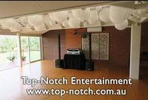 DJ Equipment Setup / Photos showing some wedding DJ equipment setup ready to go in popular reception venues.