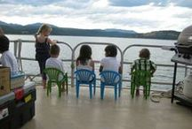 Kids / A houseboat holiday on Lake Koocanusa with Sunshine Houseboats is fun for all ages!