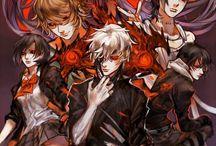Tokyo Ghoul ♡ / Tokyo Ghoul/Kushu. Official art, fanart, manga, anime