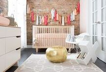 Gold Nursery / Inspiring and beautifully curated nurseries that feature gold decor.