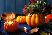 Herbst-Deko / Schöne Ideen für den Herbst - mit Blättern, Kürbis und Beeren dekorieren und basteln.