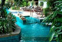 Beautiful Backyards & Backyard Landscaping / Beautiful backyards and backyard landscaping ideas. Breathe new life into your backyard today with some help from Pioneer Family Pools - http://www.pioneerfamilypools.ca/service/pool-renovations/