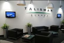 Talisman /  Talisman required an effective approach to displaying health and safety rules to their staff. Digital signage was chosen because people would be much more likely to look at a TV screen rather than a static noticeboard. The content is also dynamic and can be changed more quickly, easily and cost effectively than with static printed notices.