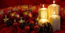 Christmas lights candle