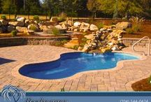 Natural Swimming Pools / Natural Fiberglass Swimming Pools from Poolscapes of Charlotte NC. We are the exclusive dealer of San Juan Pools in the greater Charlotte NC area.