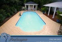 Modern Fiberglass Swimming Pools / Modern Fiberglass Swimming Pools from Poolscapes of Charlotte. Exclusive San Juan Pools dealer in Charlotte NC and surrounding areas.