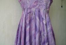 hedvábné šaty (silk clothes) / ručně malované hedvábí (silk, hand painted)
