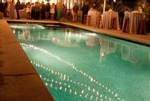 Poolside Wedding / Thinking of a cool idea for your wedding and need some inspiration!? Poolside weddings are a great way to maximize your backyard space and create beautiful memories by the water.