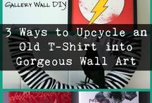 DIY Gallery Wall Art / It's easy to make your own art for your gallery wall. Here are some projects you can absolutely tackle yourself!