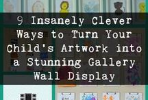 Gallery Wall Inspiration / Ideas and inspiration for creating gorgeous gallery walls. Get more ideas and how-to's at http://gallerywalldiy.com/blog