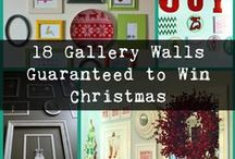 Holiday Gallery Walls / Christmas, Thanksgiving, Easter, Valentine's Day... it's easy to switch out a few items in your gallery wall to customize it for each holiday. Here are a few ideas to inspire you...