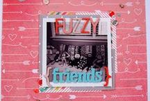 Scrapbooking Layouts / Gorgeous scrapbooking layouts to encourage us to scrap those memories!