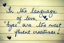 Love Quotes / Love is what you say.  Love is what you do.