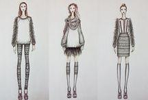MSKPU | Rysunek żurnalowy / Rysunki i ilustracje studentów, absolwentów i wykładowców MSKPU.  MSKPU's fashion illustration, drawing and sketches.