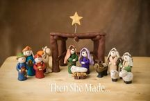 Nativity figures (polymer clay) and other fimo projects