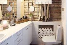 Kylppäri / Iloisia ja toimivia kylpyhuoneita ja vessoja. Cheerful and fuctional bathrooms.