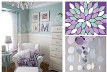 Nursery Ideas / DIY ideas and products to make a beautiful nursery for the babe!