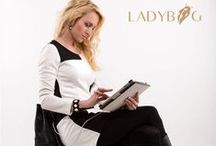 LADYBAG Magnum Black: Heated Bags / The only handbag which charges your electronics and keeps you warm year round www.ladybag.cz