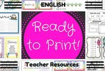 RTP English resources / All of these English resources have been created by READY TO  PRINT and are aligned with the Australian Curriculum.