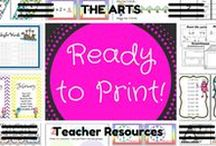 RTP 'The Arts' resources / All of these 'The Arts' resources have been created by READY TO  PRINT and are aligned with the Australian Curriculum.