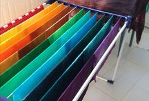 Dyed fabrics / Teñido de telas /  Stoffe färben