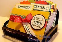 stampin  calendrier anniversaire ROLODEX idea