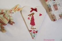 cross stitch heart and easter