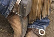 cowboys, bags and horses / western style